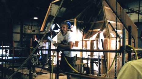 The Grinning Man - Part of the Attic Set on the Underwater stage at Pinewood